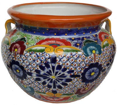 Talavera Ceramic Pot (Medium Multicolor Talavera Ceramic Pot)
