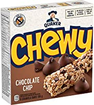 QUAKER Chewy Chocolate Chip Granola Bars (6 Bars x 26 g), 156 g (Pack of 12)