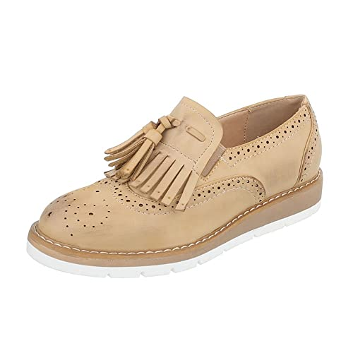 Ital-Design - Zapatos Planos con Cordones Mujer , color rosa, talla 37