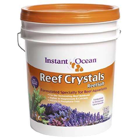 Instant Ocean Reef Crystal Sea Salt Marine Mix, 160-Gallon - Marine Reef Tank