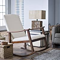 Belham Living Holden Modern Indoor Rocking Chair - Upholstered - Buttercream