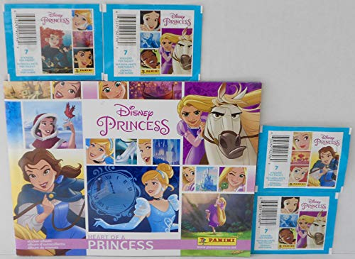 - Disney Princess Heart of A Princess Sticker Album and 4 Packs of Stickers Bundle