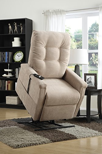 Lift Assist Chair - Pulaski Montreal Piedra Fabric Lift Chair, Beige