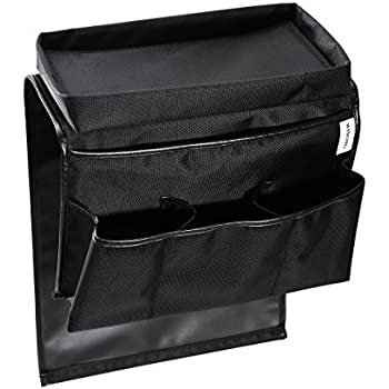 WINOMO Remote Control Holder Armchair Organizer Couch Caddy Sofa Armrest  Bag For Magazine Books (Black)