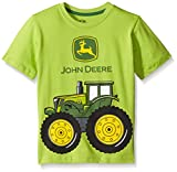 John Deere Little Boys' Big Tractor Tee, Lime Green, 6