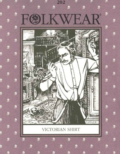 Victorian Sewing Patterns- Dress, Blouse, Hat, Coat, Mens Victorian Shirt Patterns - Folkwear #202 $19.40 AT vintagedancer.com