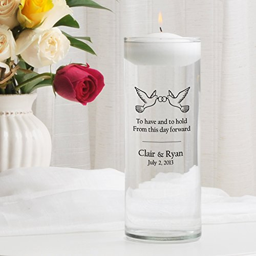 Personalized Floating Wedding Unity Candle- to Have and to ()