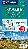 Toscana, Herz der Toskana, Nel cuore della Toscana, Heart of Tuscany: 4 Wanderkarten 1:50000 im Set inklusive Karte zur offline Verwendung in der ... (KOMPASS-Wanderkarten, Band 2440)