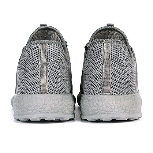 Mxson Mens Ultra Léger Mesh Respirant Rue Sport Chaussures De Marche Chaussures De Sport Occasionnels Gris