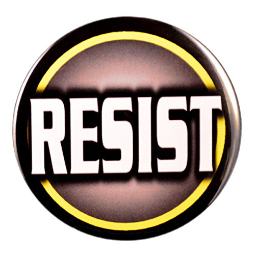 Pack-1 Resist Trump Pin-Back Buttons (3