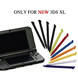 Pack of 11 Colorful Plastic Replacement Touch Screen Stylus Pens Set Only for Nintendo New 3DS XL and New 3DS LL by YTTL