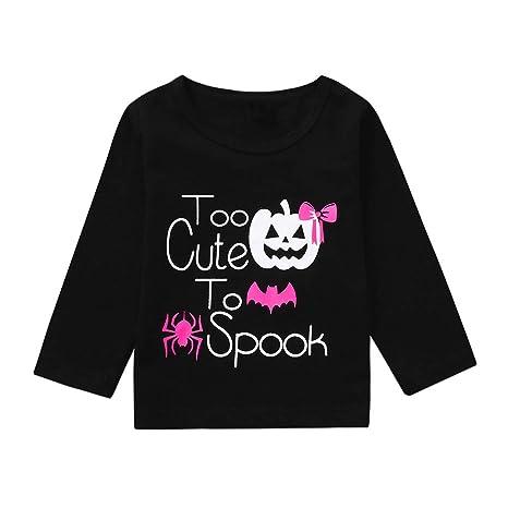 Baby Tops Outfit,Fineser Cute Toddler Kids Baby Girls Long Sleeve Cartoon Pumpkin Tops T-Shirt Halloween Clothes