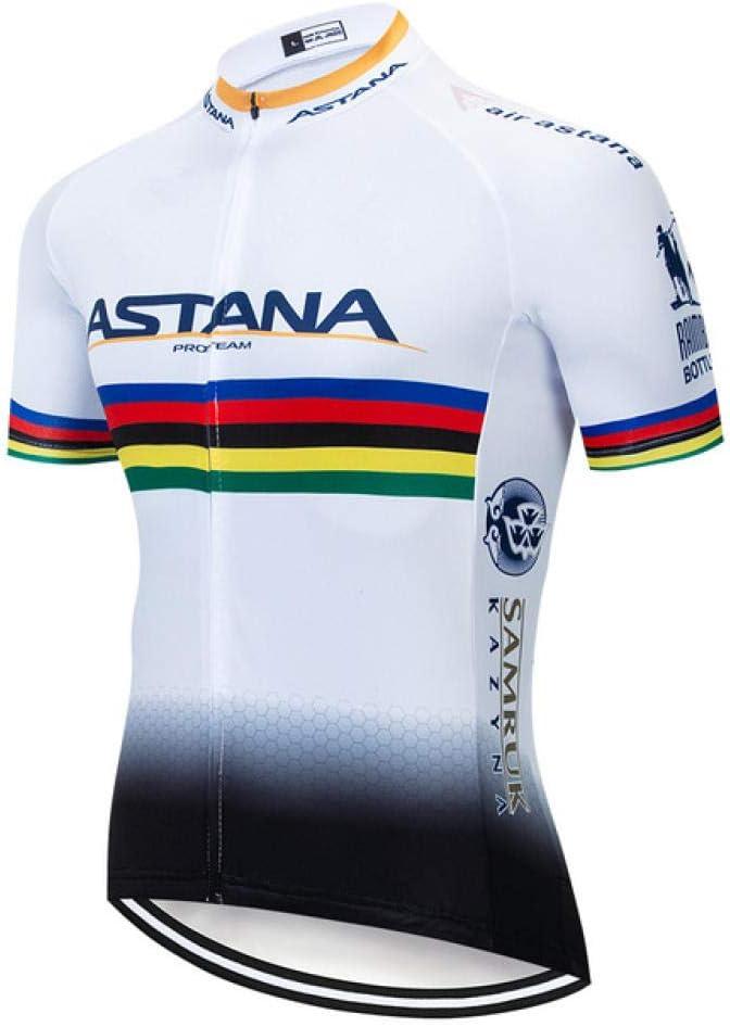 KUPAO Culotte Corto de Ciclismo para Hombre Conjunto de Sudadera Acolchada Camisa de Manga Corta para Hombres MTB Jersey Ropa de Ciclismo para Hombres Bicicleta-T02_Metro: Amazon.es: Deportes y aire libre