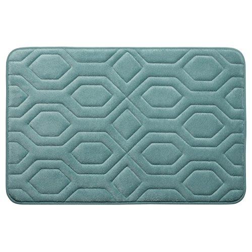 Bounce Comfort Extra Thick Memory Foam Bath Mat - Turtle Shell Premium Micro Plush Mat with BounceComfort Technology, 20 x 32 in. Marine Blue -  YMF Carpets Inc., YMB003742