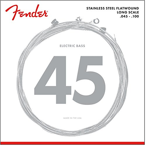 (Fender 9050 Stainless Flatwound Bass Strings)