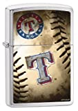 Zippo MLB Texas Rangers Brushed Chrome Lighter