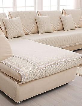 ZQ cotone / lino antiscivolo copridivano beige moda fodera quattro stagioni tessuto cuscino del divano pura e fresca , 70*70cm-beige , 70*70cm-beige Textiles / Home