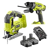 Ryobi P1801 Lithium Ion Hammer Drill and Orbital Jig Saw Combo Kit NIB