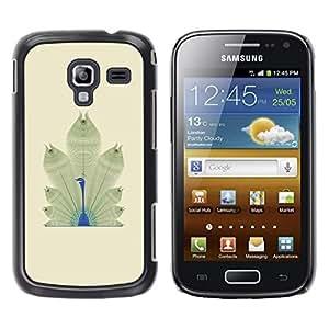 FECELL CITY // Duro Aluminio Pegatina PC Caso decorativo Funda Carcasa de Protección para Samsung Galaxy Ace 2 I8160 Ace II X S7560M // Bird Feathers Minimalist Africa