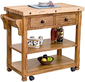 Amazon.Com - Sedona Butcher Block Kitchen Island Cart - Bar