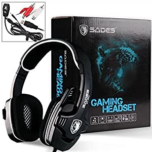 SADES Spider Stereo Sound Headphones 3.5mm Headset Gaming Headphone with Foldable Microphone for xiaomi Phones Xbox/PS4 Gamer
