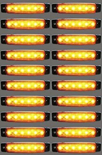 20/X 24/V LED Laterali Luci Ambra Arancione Camion Caravan Chassis