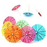 TOOGOO 24 Mixed Paper Cocktail Umbrellas Parasols Party Drinks