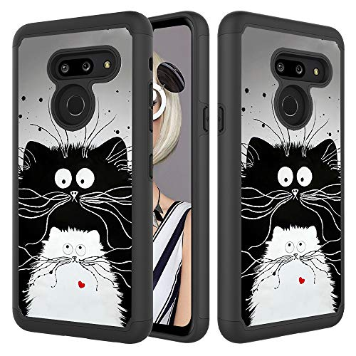 - Bumper Case for LG G8 ThinQ/ G8s ThinQ, CASE4YOU High Impact Cover Shock-Absorption Protection Armor TPU+PC Dual Layer Shell Heavy Duty Defender Cartoon Rat Back Cover for LG G8s ThinQ LG G8 ThinQ