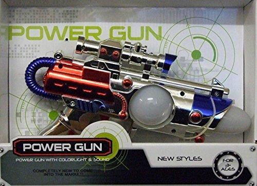 ALLKINDATHINGS Kids Flashing LED Light Up Space Pistol Ray Gun with Firing Sound Laser Gun Toy