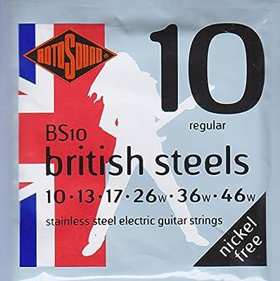 Rotosound BS10 - Juego de cuerdas para guitarra eléctrica de acero ...