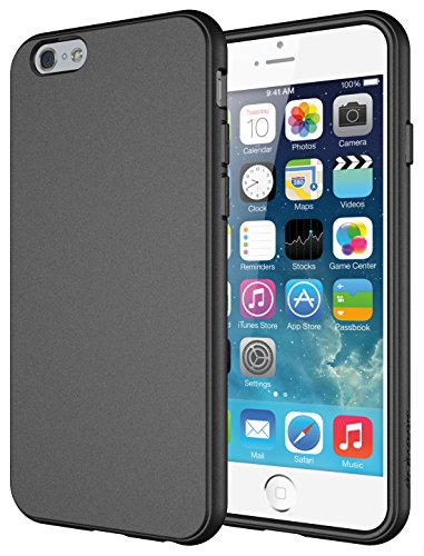 iPhone 6 Case, Diztronic Full Matte Soft Touch Flexible TPU Case for Apple iPhone 6 (4.7) - Matte Charcoal Gray