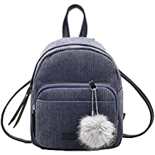 Clearance Sales Fashion Backpack AfterSo Womens Girls Fashion Casual TravelCrossbody Shoulder Bag Purse Totes Satchels Daypack Handbags Rucksack Schoolbags with Zipper Pompon Ball