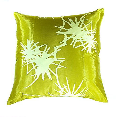 Narphosit Thai Silk Decorative Throw Pillow Case Sofa Couch Cushion Cover Zippered 18×18 Inch
