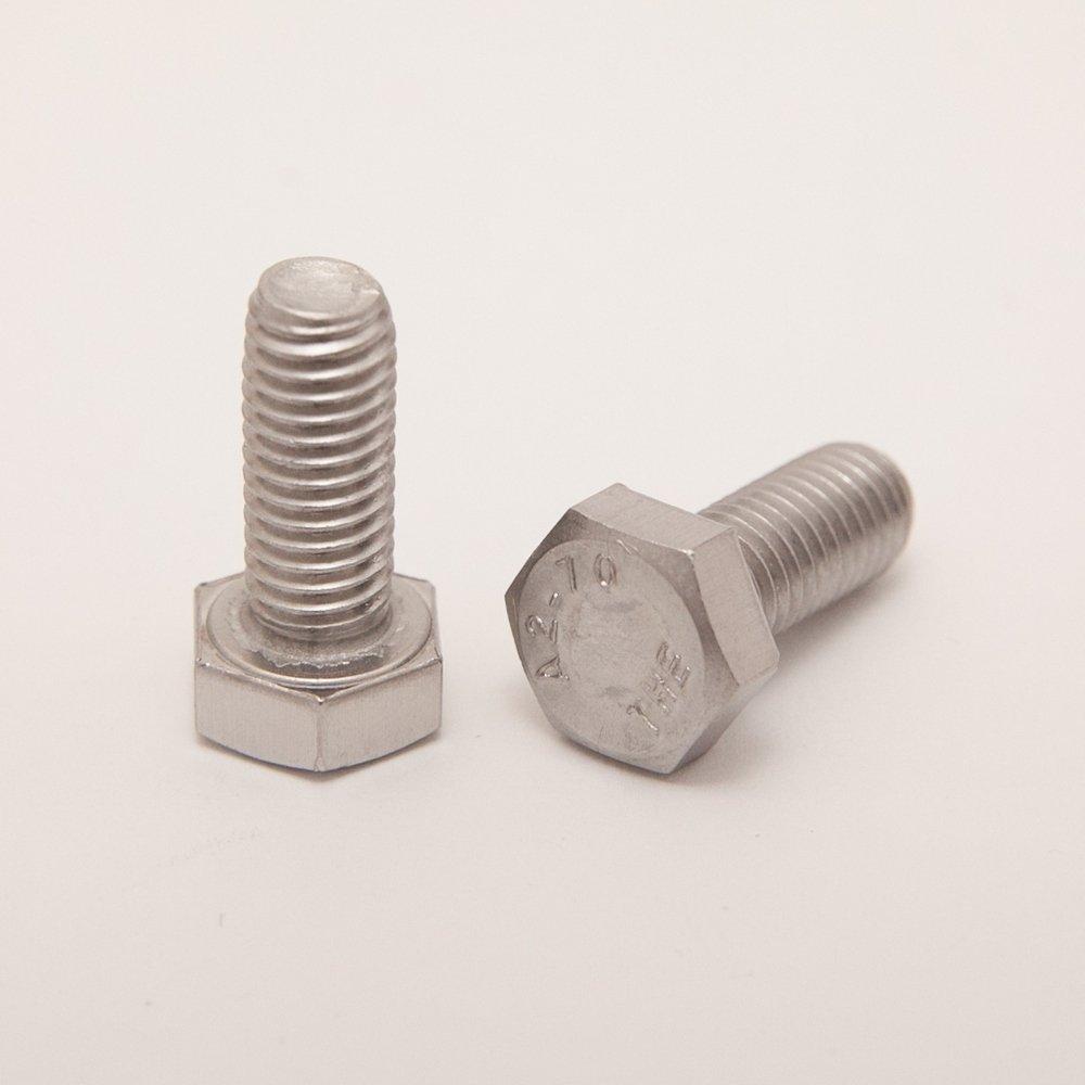 | Gewindeschrauben DERING Sechskantschrauben M10x10 DIN 933 Edelstahl A2 4 St/ück Sechskant-Schrauben rostfrei