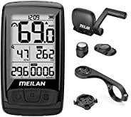MEILAN M4 Wireless Bike Computer, IPX5 Waterproof Cycling Computer with 2.5 Inch Backlight LCD, ANT+ BLE4.0 Bi