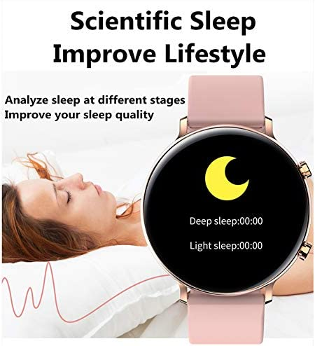 Smart Watch for Women Men with Call Function, Information Reminder Heart Rate Blood Pressure, Waterproof Bluetooth Pedometer with Sleep Monitor, Fitness Tracker Smartwatch for Android iOS Phones 51xlkyT2u4L