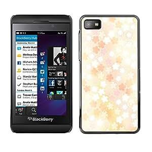 Paccase / SLIM PC / Aliminium Casa Carcasa Funda Case Cover - Floral pattern - Blackberry Z10