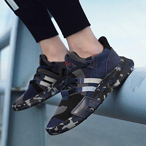 Schuhe Schnürer Herren Shoes Dunkelblau Freizeit Laufschuhe BAOLESEM Sportschuhe Sneaker xwtCnqTqRH