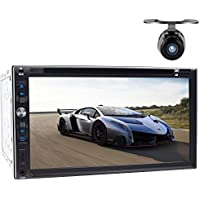 Tmaxlife 2din Car Autoradio Stereo In Dash Headunit 7 Inch iPod TV Bluetooth CD DVD Player Automotive Radio AM FM + Rearview Camera