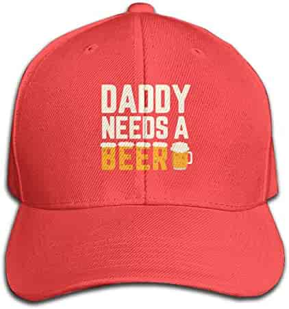 f268ced2 Baseball Caps Daddy Needs A Beer Unisex Snapback Hat Adjustable Visor Cap  Black
