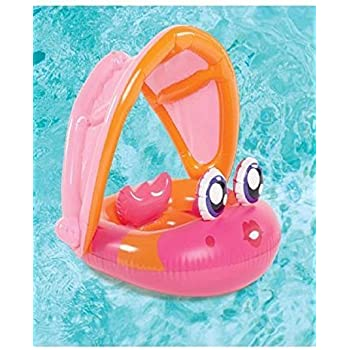 Play Day Baby Float Fish Pink with Sun Canopy  sc 1 st  Amazon.com & Amazon.com: Play Day Baby Float Fish Pink with Sun Canopy: Toys ...