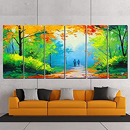 Ray Decor Sparkling Landscape Frames Wall Painting Multicolour
