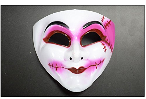 CHOP MALL Smile Clown Face Mask Happy Halloween Dress-Up Costume Party Novelty Mask for Halloween Party Masquerade Cosplay Festival Parties