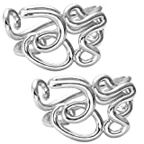 Top Plaza Unisex Simple Silver Tone OM Symbol Vintage Copper Couples Lovers Finger Rings,Size 6.5,Valentine's Day Birthday Gift(Couple)