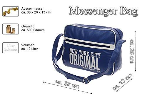 XXL moderna schultasche Escuela trabajo oficina uni-ball Bag compañero de City Bag Funda vuelo Messenger Bolso Bandolera Hombre Bolsa de trabajo... multicolor weiß weiß