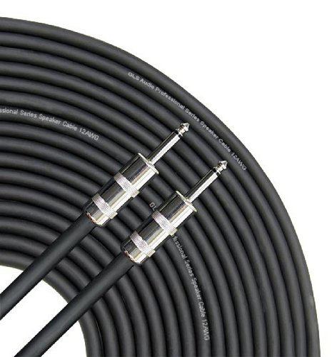 GLS Audio 50 feet Speaker Cable 12AWG Patch Cords - 50 ft 1/4