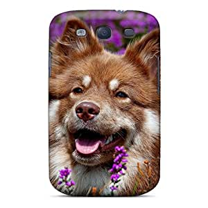 Unique Design Galaxy S3 Durable Tpu Case Cover Dog In The Purple Field