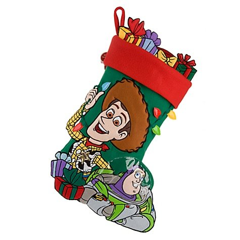Disney Toy Story Woody and Buzz Lightyear Large Christmas Stocking From Disney Resort