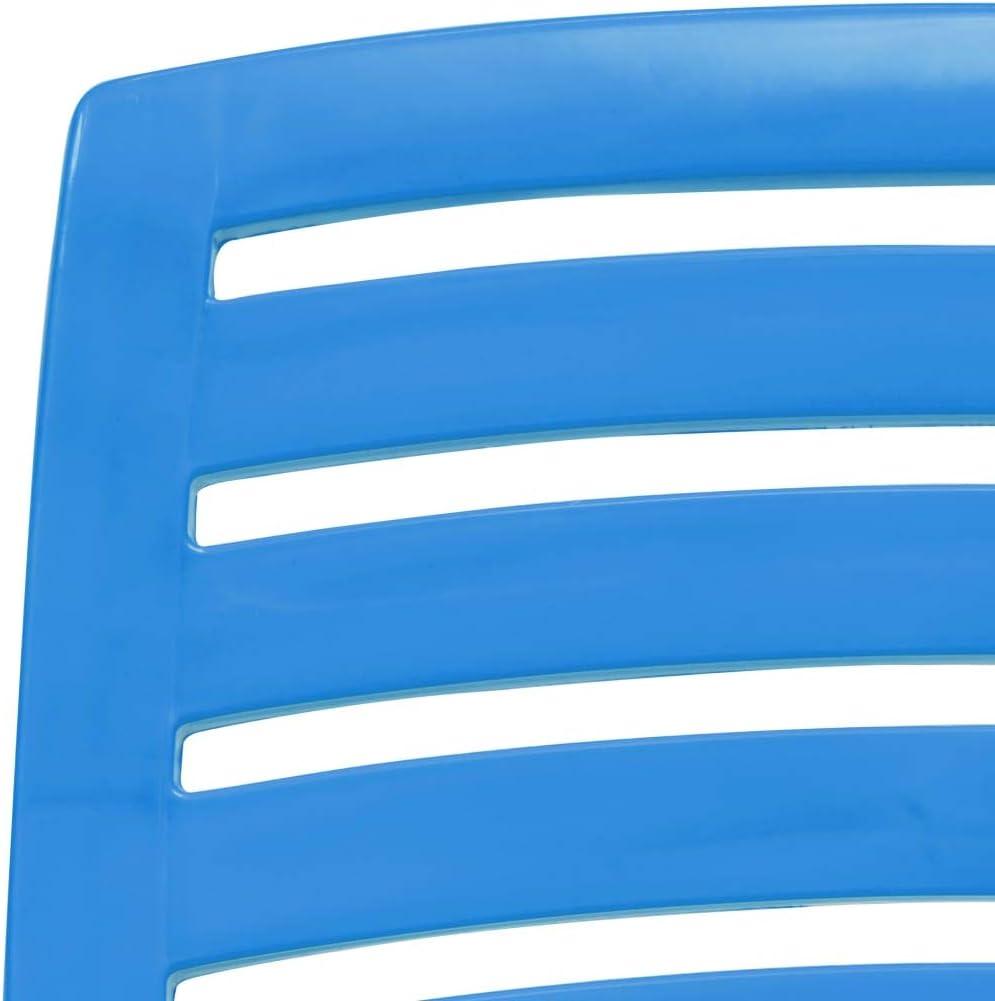 Festnight 4 Unidades Silla Plegable de Pl/ástico para Jard/ín Patio y Playa 42 x 58 x 64 cm Azul Terraza