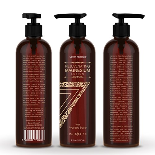 51xlnKSfgkL - NEW Rejuvenating Magnesium Body Lotion - Healthy Daily Moisturizer - NO Endocrine Disruptors. A Total Skin Spa With Silky Avocado Butter, Anti-Aging Royal Jelly, Organic Essential Oils & More!
